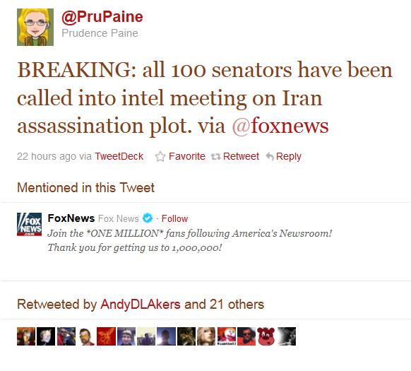 All 100 Senators called in to intel meeting on Iran
