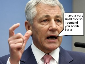"""Chuck Hagel Urges House to """"Act on Syria"""""""