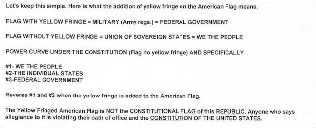 Flag Meaning