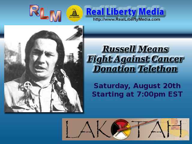 Russell Means Donation Telethon