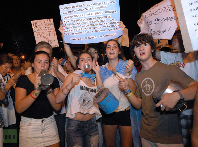 Thousands take to streets in Argentina to protest economic woes