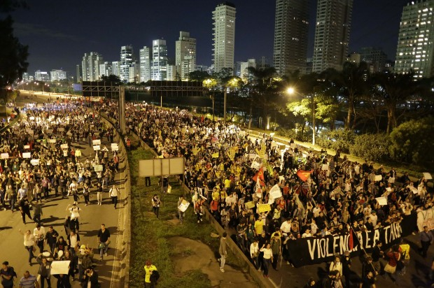 Hackers replace Brazil World Cup website with protest footage