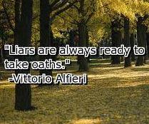 Liars Take Oaths