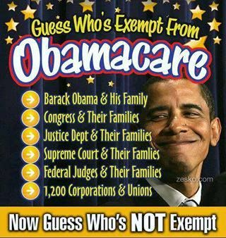 ObamaCare Exemptions
