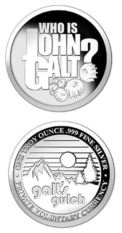 Galts Gulch Silver Coin