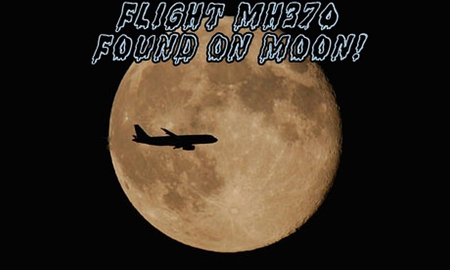 Flight MH370 Found on Moon!